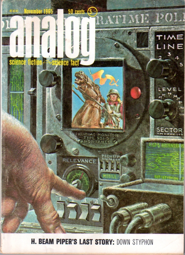Down Styphon! by H. Beam Piper, original Analog edition cover illustration by Kelly Freas, 1965