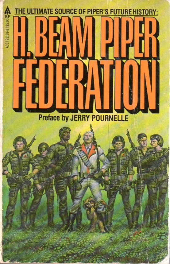 Image - Federation by H. Beam Piper, cover illustration by Michael Whelan, Ace 1981