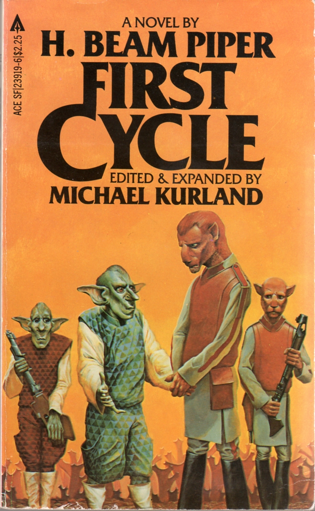 First Cycle by H. Beam Piper and Michael Kurland, original Ace edition uncredited cover illustration, 1982