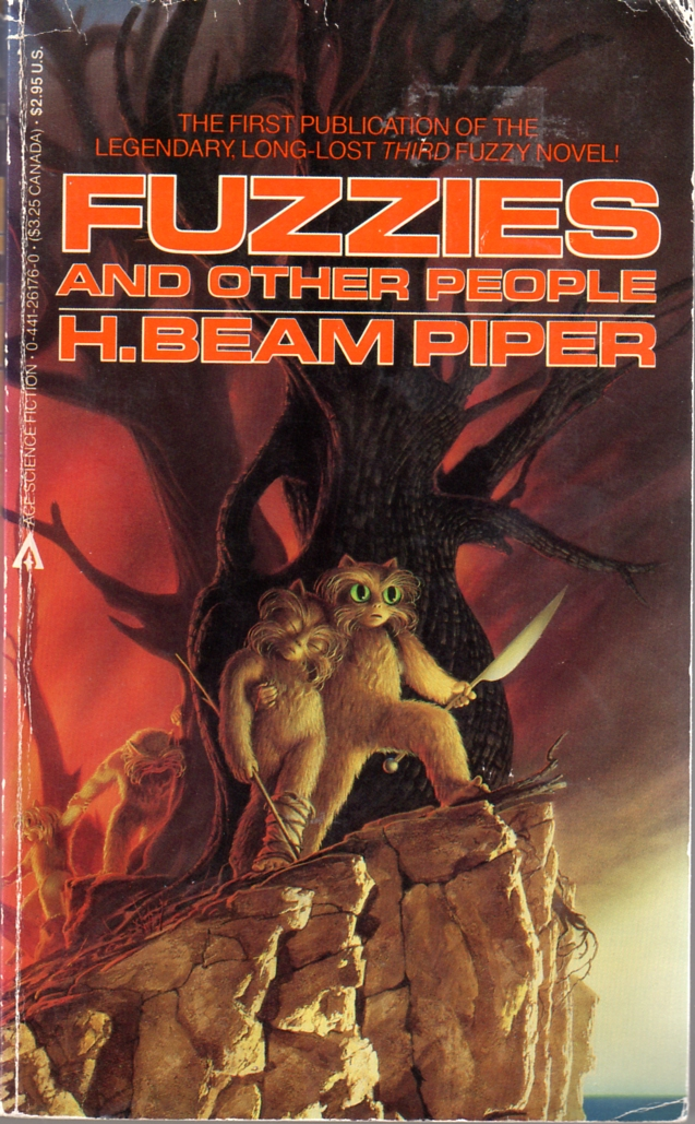Image - Fuzzies and Other People by H. Beam Piper, cover illustration by Michael Whelan, Ace 1984