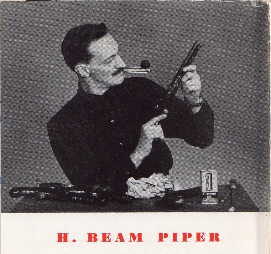 H. Beam Piper, photo from Knoph edition of Murder in the Gunroom dustjacket, 1953