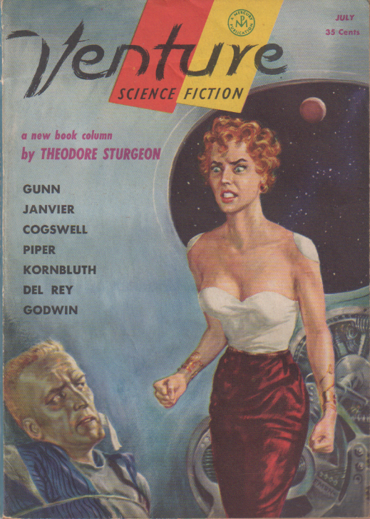 The Keeper by H. Beam Piper, unrelated original Venture edition cover illustration, 1957