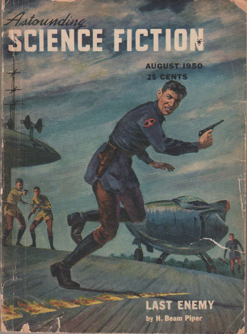 Image - Last Enemy by H. Beam Piper, cover illustration by Walt Miller, Astounding, August 1950