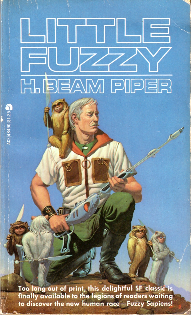 Little Fuzzy by H. Beam Piper, Ace edition cover illustration by Michael Whelan