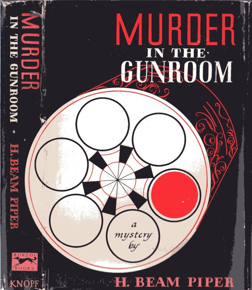 Murder in the Gunroom by H. Beam Piper,  Knopf edition cover illustration