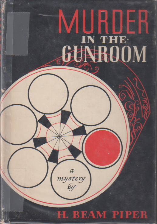 Murder in the Gunroom by H. Beam Piper,  Knoph edition jacket illustration by Georgianna Schiffmacher